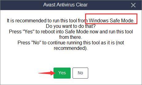 avast windows safe mode