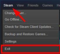 exit steam