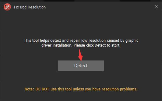 fix bad resolution