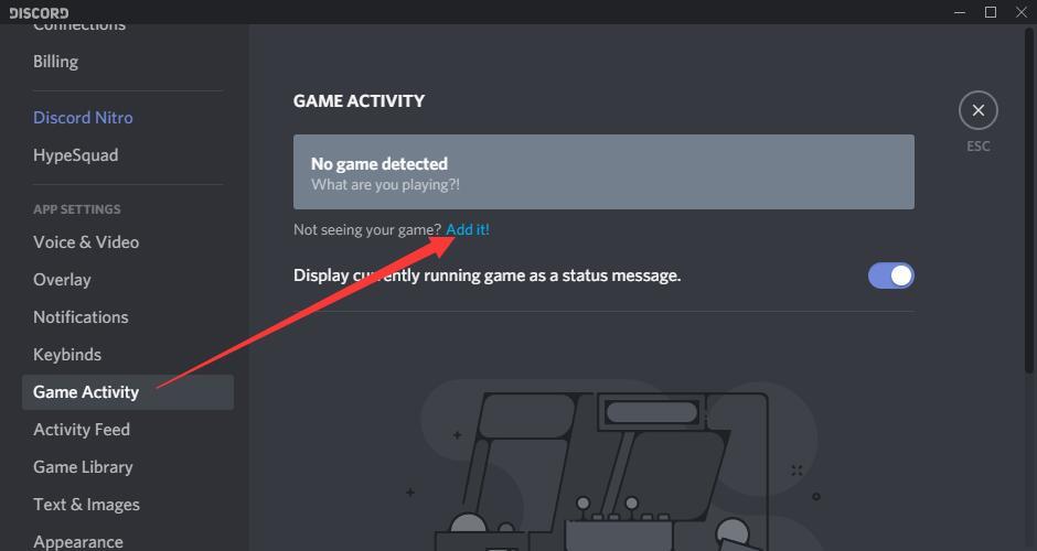 game activity add it