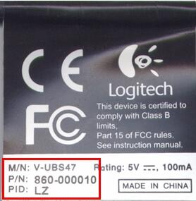 logitech webcam model name